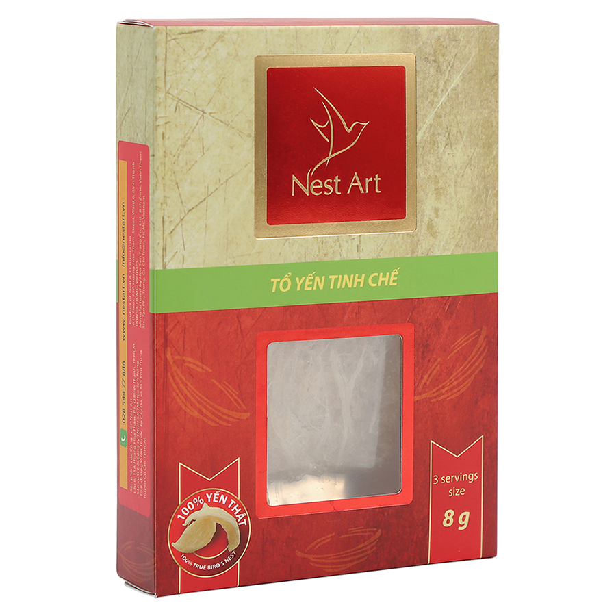 Tổ Yến Tinh Chế Nest Art (8g) - 18250341 , 5043075404576 , 62_5331263 , 530000 , To-Yen-Tinh-Che-Nest-Art-8g-62_5331263 , tiki.vn , Tổ Yến Tinh Chế Nest Art (8g)