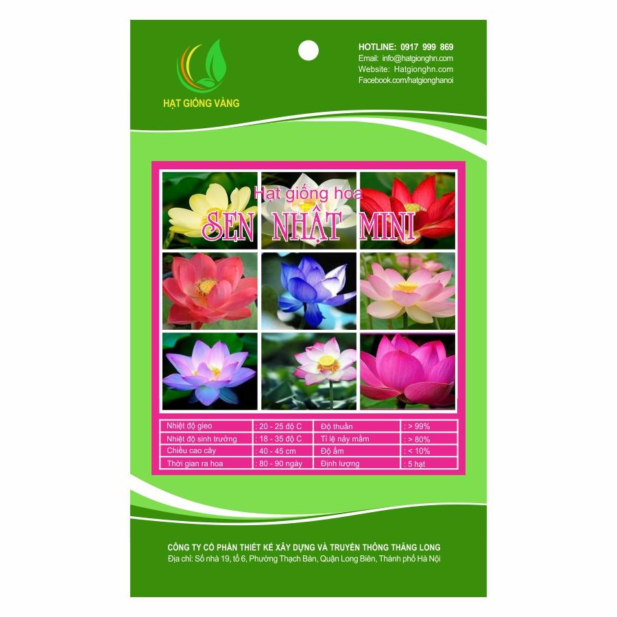Combo 2 gói Hạt giống hoa Sen nhật mini Golden Seeds 5 Hạt