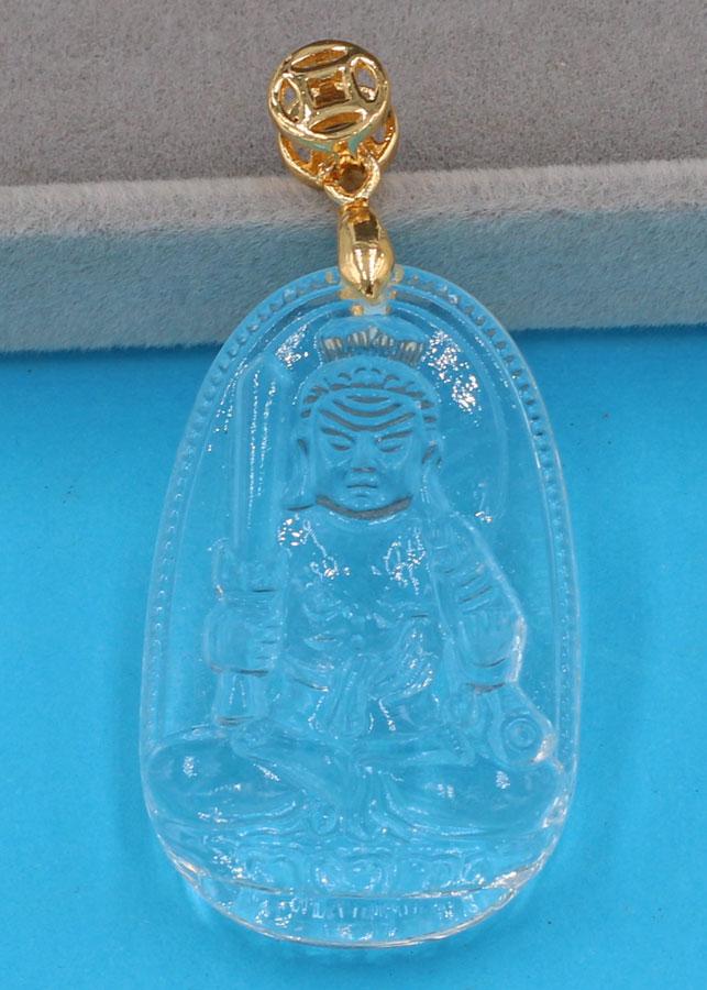 Mặt Phật Bất động minh vương thủy tinh trong 3.6 cm MFBTT1
