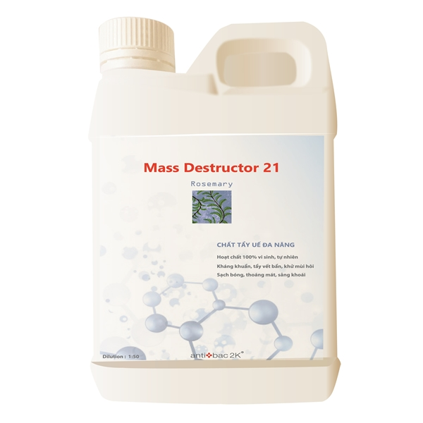 Hoạt chất lau sàn, khử mùi, kháng khuẩn Mass Destructor 21 Rosemary