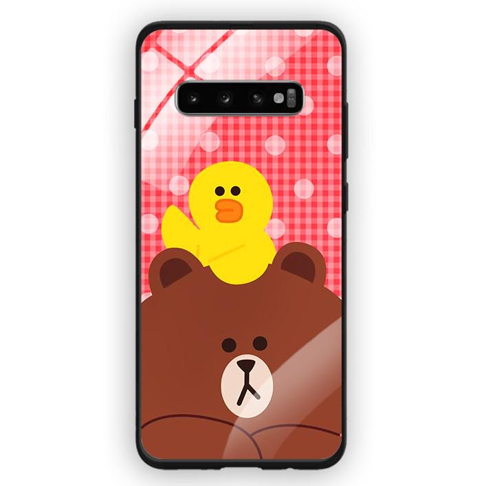 Ốp Lưng Kính Cường Lực Cho Điện Thoại Samsung Galaxy S10 Plus - 391 0066 GAUBROWN04 - Hàng Chính Hãng