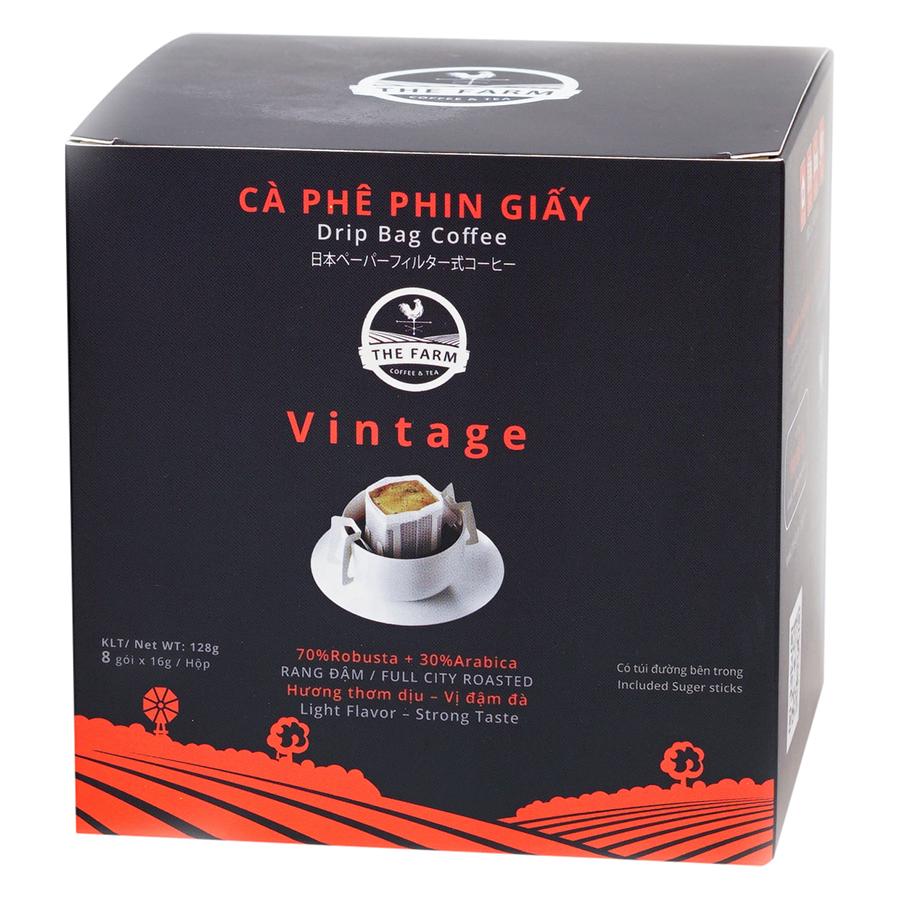 Cà Phê Phin Giấy Vintage The Farm Coffee  Tea CP02 (8 Gói x 16g)