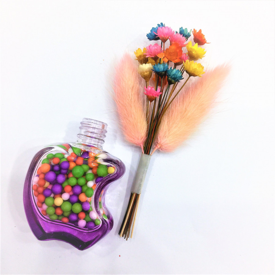 Bộ lọ và hoa khô mini đáng yêu - 0016