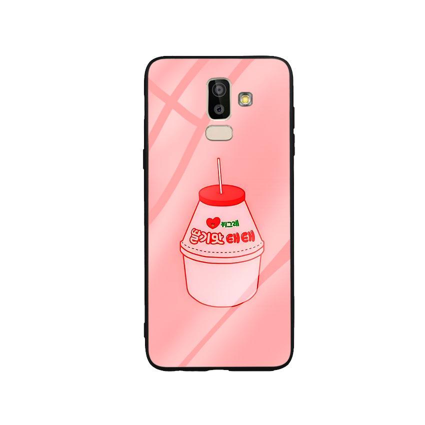 Ốp Lưng Kính Cường Lực cho điện thoại Samsung Galaxy J8 - Tea Milk