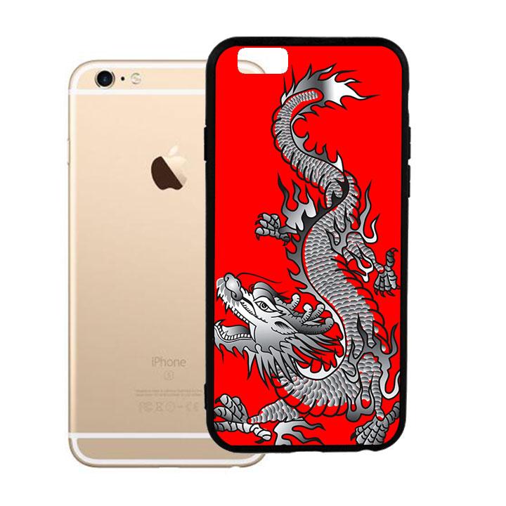 Ốp lưng viền TPU cho Iphone 6 Plus - Dragon 04