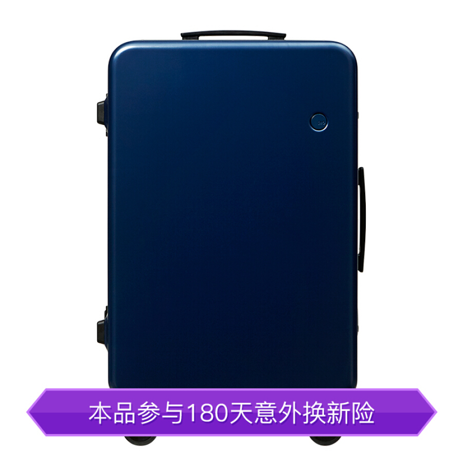 ITO trolley case 28 inch frosted navy GINKGO2 PC suitcase fashion checked baggage bag mute caster