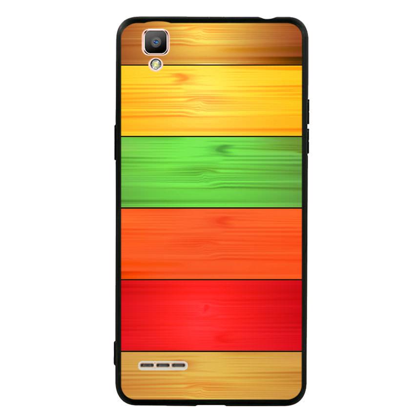 Ốp lưng nhựa cứng viền dẻo TPU cho điện thoại Oppo F1 - Sắc Màu