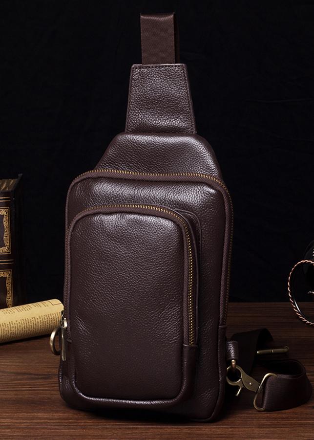 Túi đeo chéo nam chất da cao cấp , nhiều ô chứa đồ tiện dụng , chất da chống nước chống xước