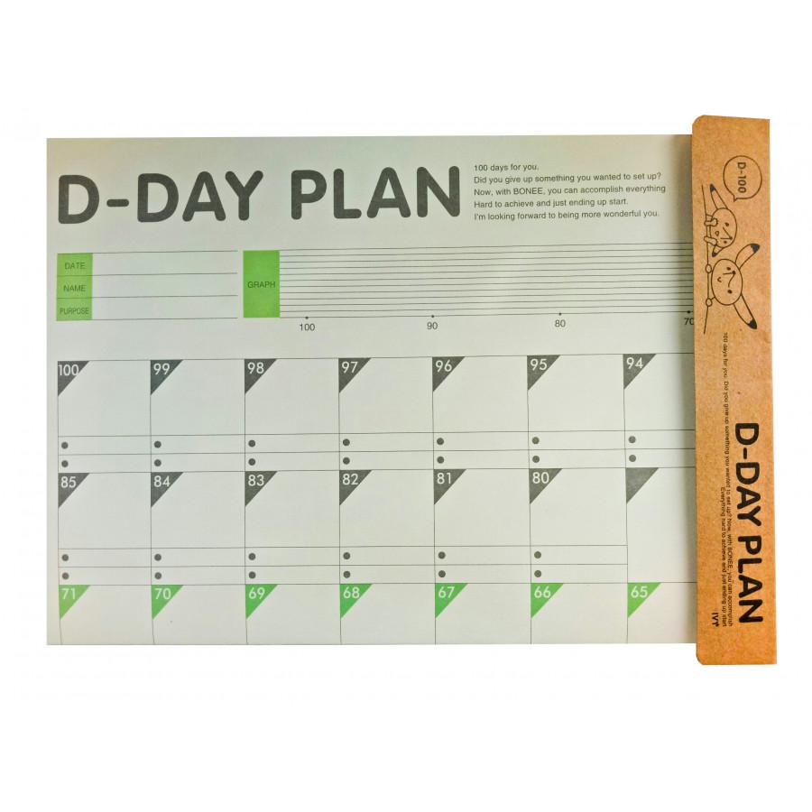 Bảng kế hoạch 100 ngày khổ lớn