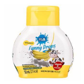 Thực phẩm bổ sung vitamin D Funny Milk Drops vị chuối