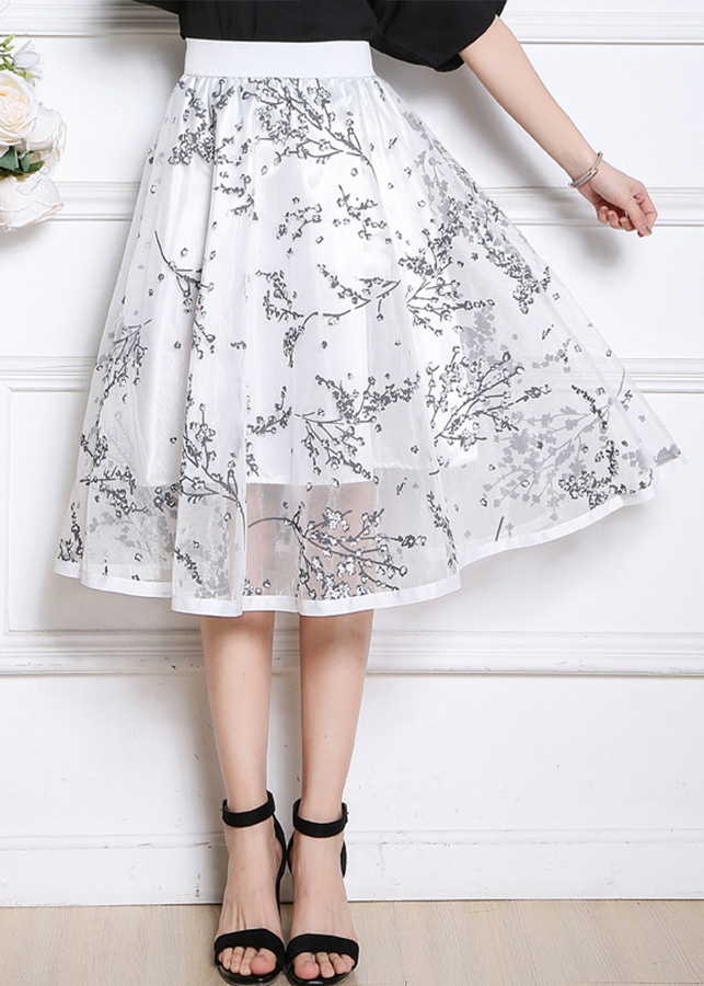 Chân váy nữ 2 lớp dáng xòe freesize
