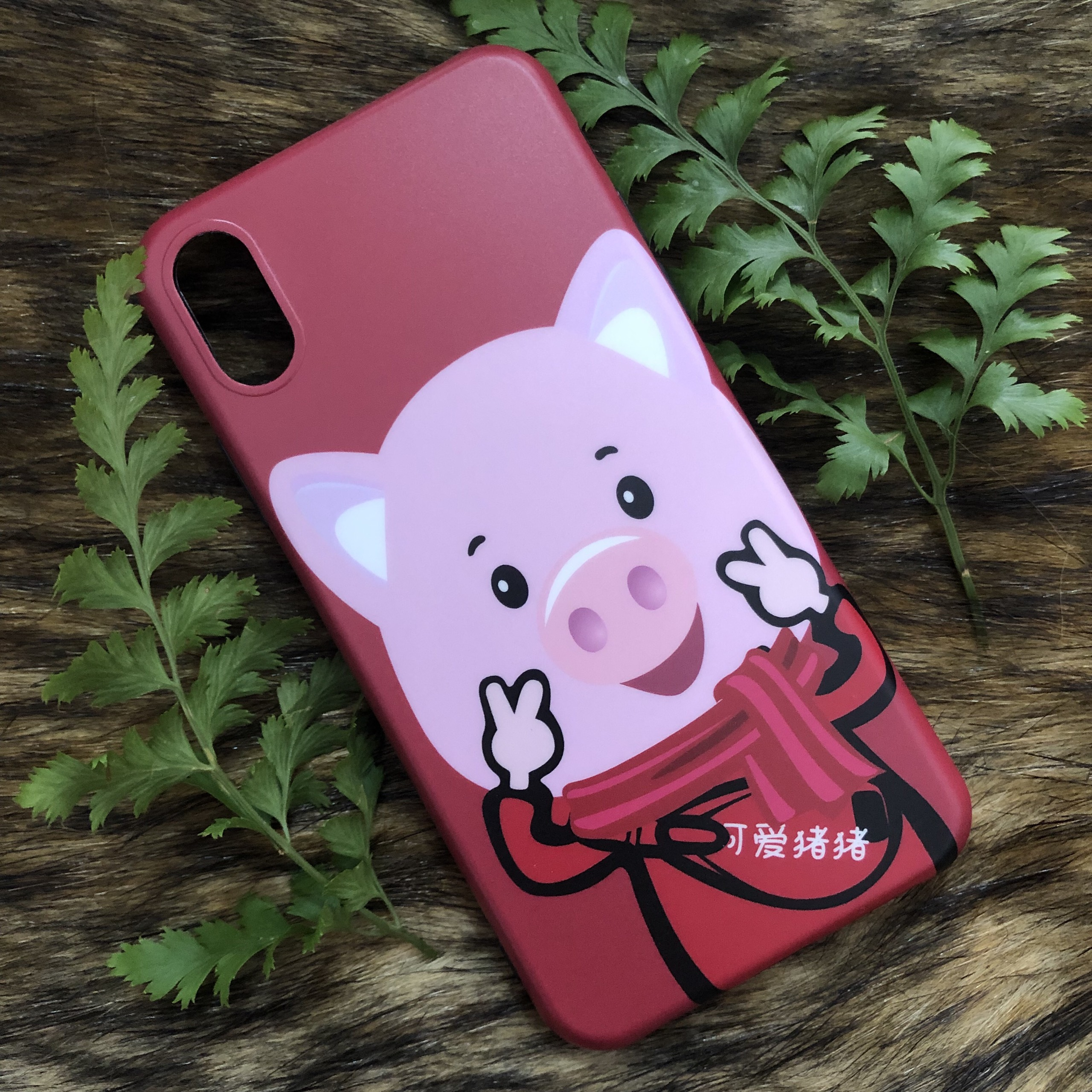 Ốp Lưng IMD Hàn Quốc Dành Cho Iphone - Hình Chú Heo - Mẫu 6