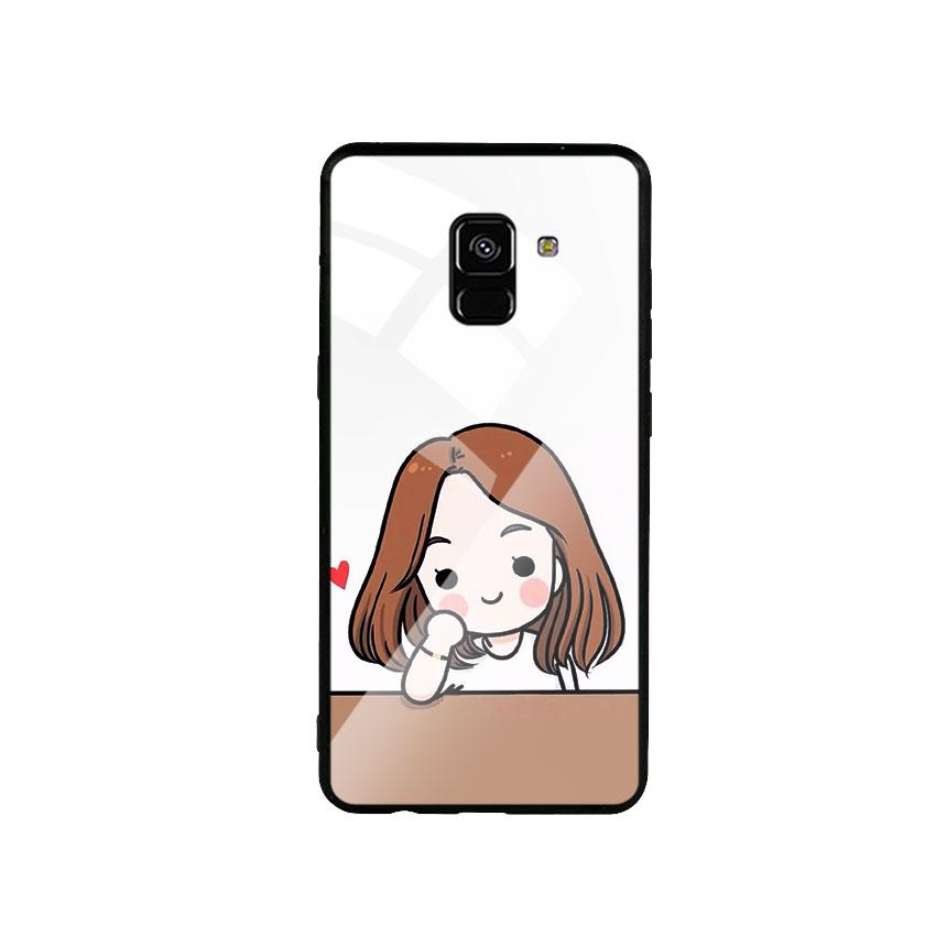 Ốp Lưng Kính Cường Lực cho điện thoại Samsung Galaxy A8 2018 - Couple Girl 03