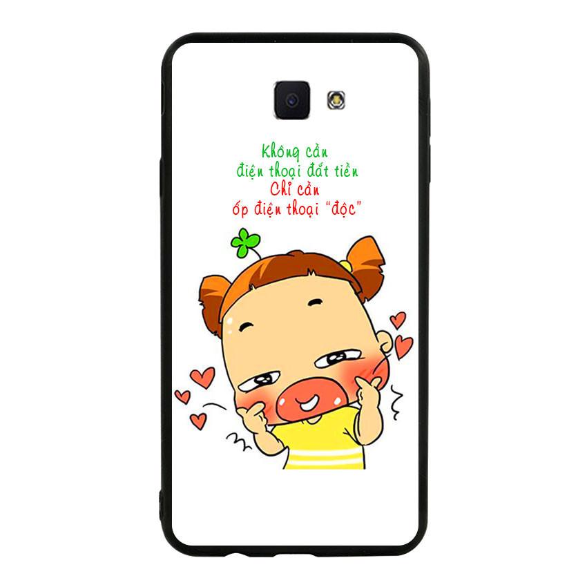 Ốp lưng viền TPU cho điện thoại Samsung Galaxy J7 Prime - Qak