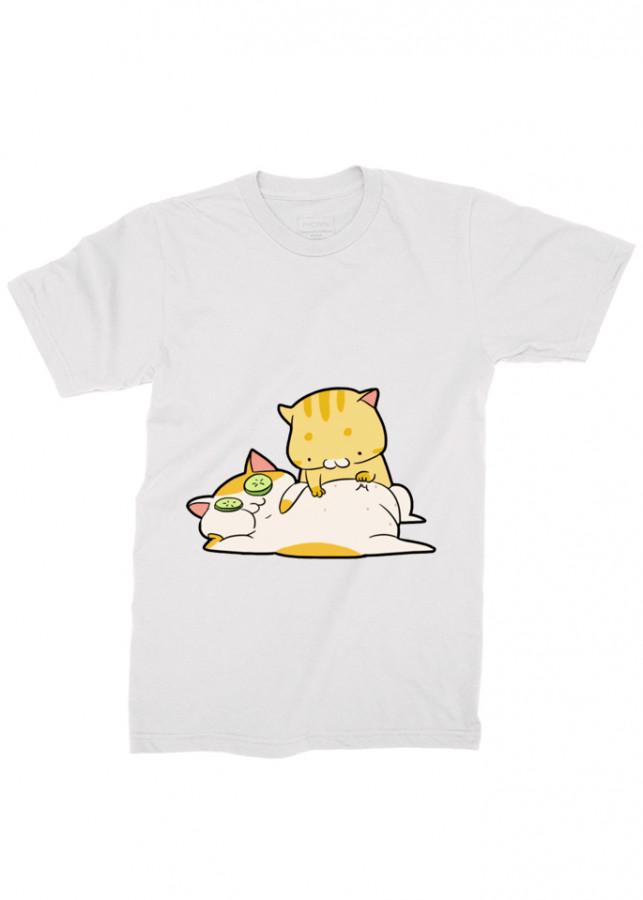 áo thun mèo , áo thun dễ thương , áo thun nam mèo