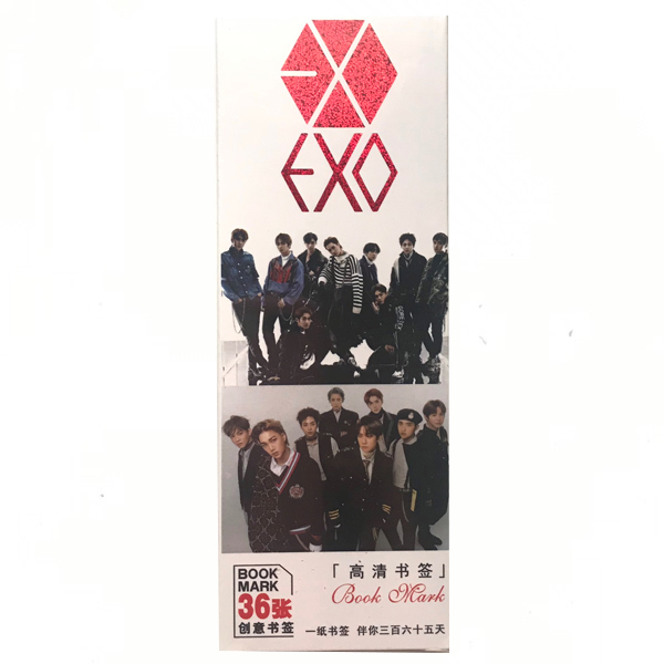 Hộp ảnh Bookmark exo 36 tấm hộp giấy tempo