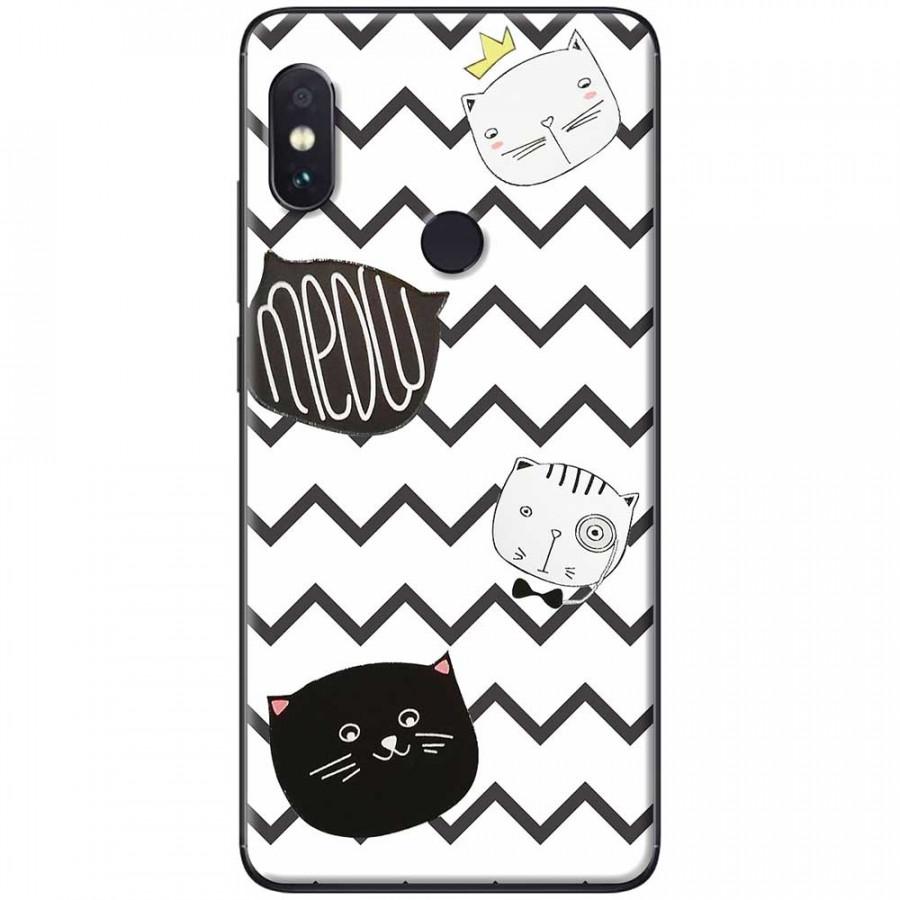 Ốp lưng dành cho Xiaomi Redmi Note 6 Pro mẫu Mèo trắng đen sọc