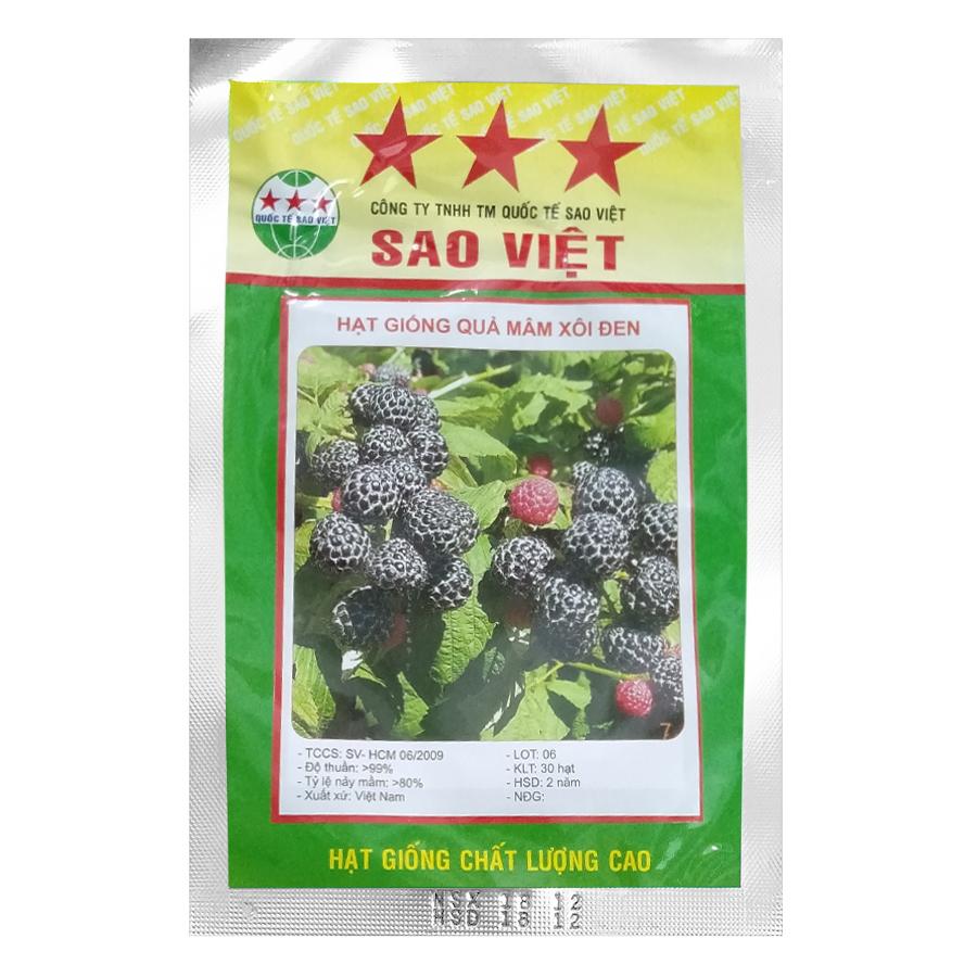Hạt Giống Quả Mâm Xôi Đen Blackberry (Rubus Idaeus) 30h - 811637 , 9623393230796 , 62_14678592 , 37500 , Hat-Giong-Qua-Mam-Xoi-Den-Blackberry-Rubus-Idaeus-30h-62_14678592 , tiki.vn , Hạt Giống Quả Mâm Xôi Đen Blackberry (Rubus Idaeus) 30h
