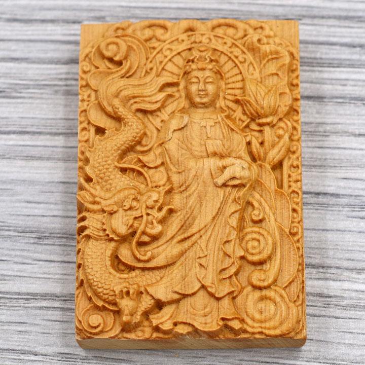 Mặt gỗ ngọc am tượng Quan âm bồ tát MG6