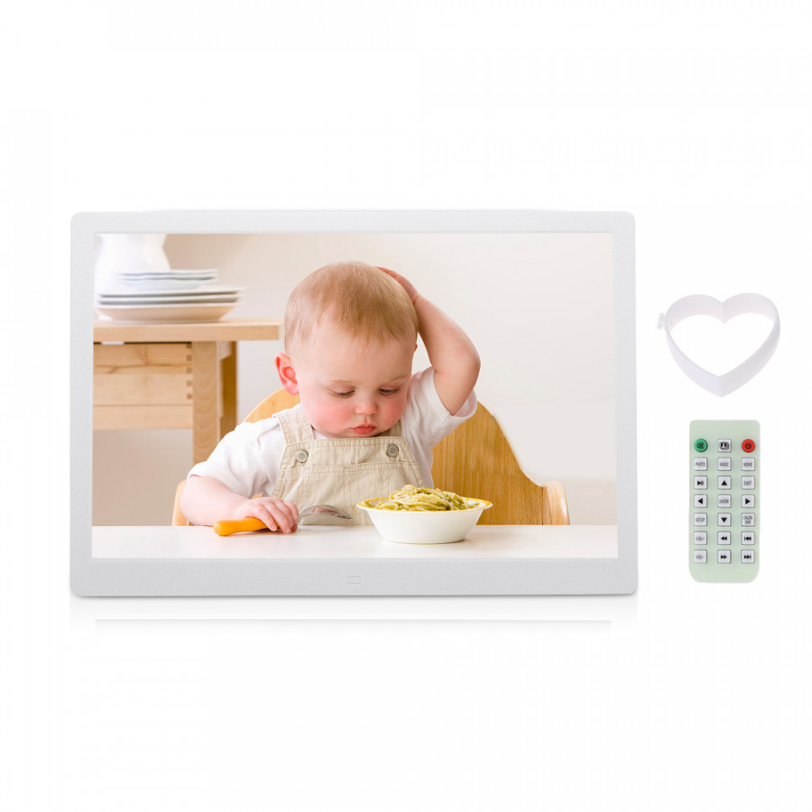 Andoer 15.6 Inch 1080P Led Digital Photo Picture Frame High Resolution 1920 X 1080 Advertising Machine Mp3 Mp4 Movie