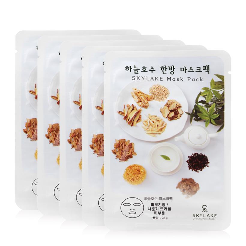 Mặt nạ dưỡng da Skylake Herb Dual Maskpack Elastic Care 5 miếng