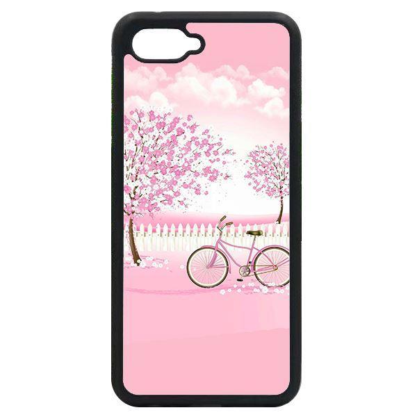 Ốp lưng dành cho điện thoại Oppo A3S/A5/realme C1 - Xe đạp nền hồng