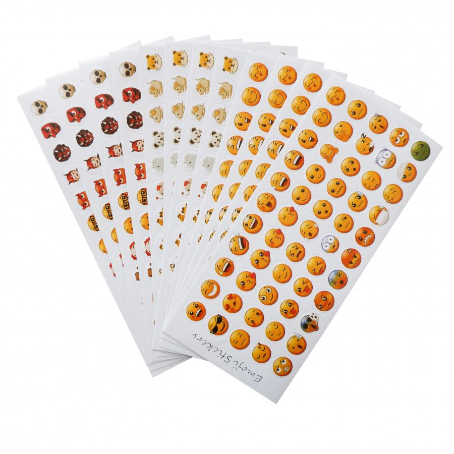 Bộ 12 tấm sticker trang trí (Emoji Stickers)