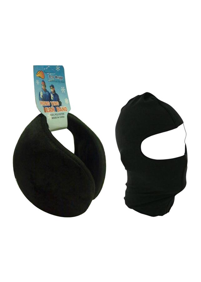 Combo Bịt Tai Nam/Nữ (Màu Đen) Và Khăn Trùm Ninja Đen