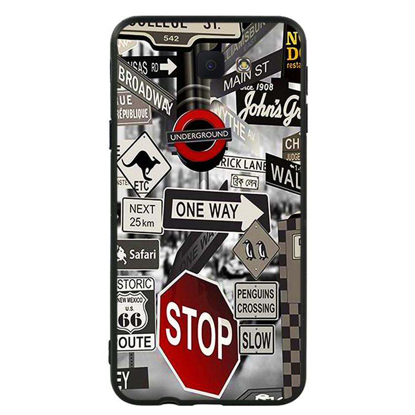 Ốp lưng nhựa cứng viền dẻo TPU cho điện thoại Samsung Galaxy J5 Prime -Street 01