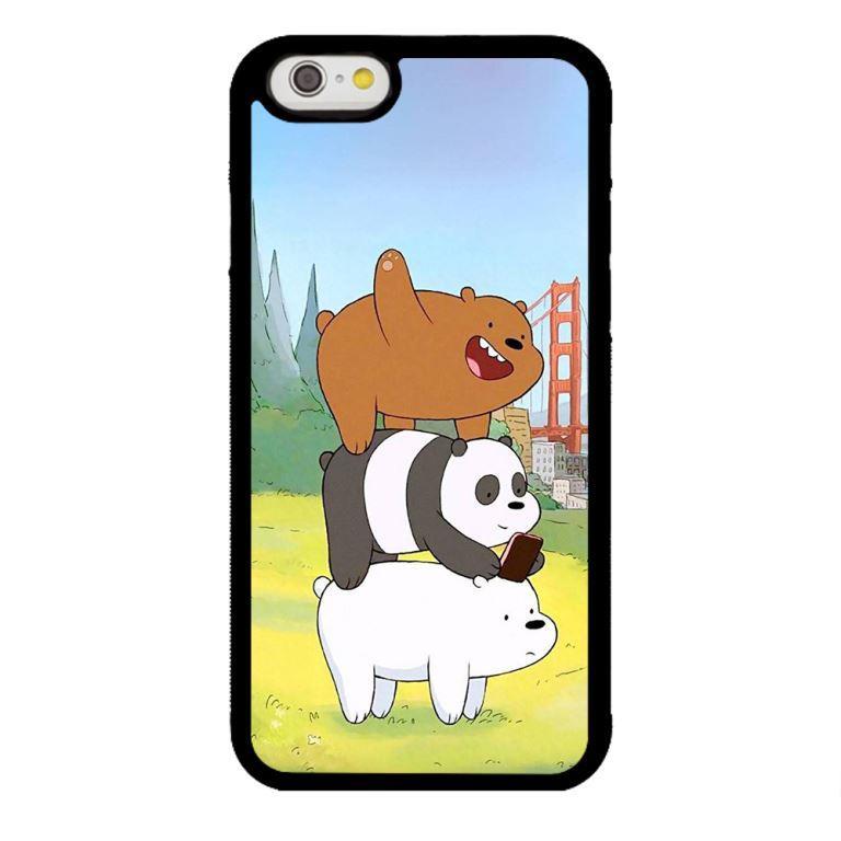 Ốp lưng dành cho điện thoại Iphone 6s Bộ Ba Chú Gấu