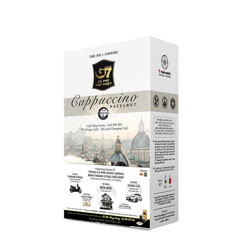 Cà phê G7 Capuchino Hazelnut (hương hạt dẻ) 3 hộp