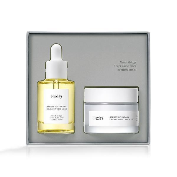 Bộ 2 sản phẩm dưỡng ẩm tối ưu cho da Huxley Extra Moisture Duo (Huxley Oil; Light and More 30ml, Huxley Cream; More Than Moist...