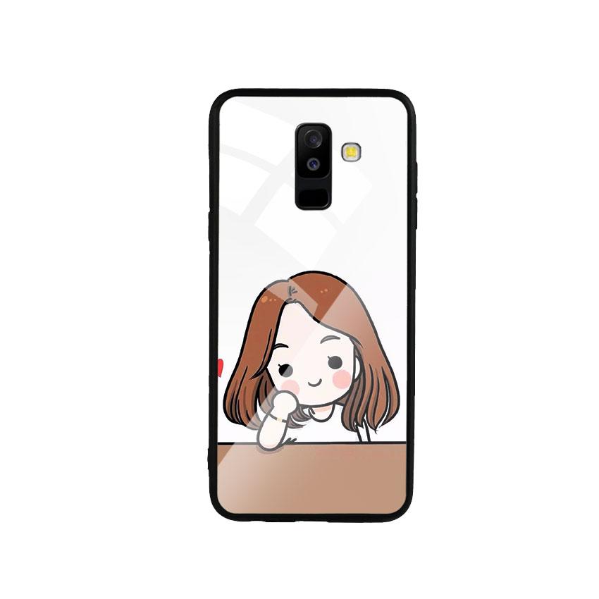 Ốp Lưng Kính Cường Lực cho điện thoại Samsung Galaxy A6 Plus 2018 - Couple Girl 03