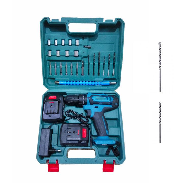 Bộ máy khoan pin 21V 3 chế độ  khoan tường, khoan sắt, bắt vít, 2 tốc độ và đảo chiều tặng kèm 2 mũi khoan... - 1479551 , 8439423692592 , 62_15412115 , 1290000 , Bo-may-khoan-pin-21V-3-che-do-khoan-tuong-khoan-sat-bat-vit-2-toc-do-va-dao-chieu-tang-kem-2-mui-khoan...-62_15412115 , tiki.vn , Bộ máy khoan pin 21V 3 chế độ  khoan tường, khoan sắt, bắt vít, 2 tốc