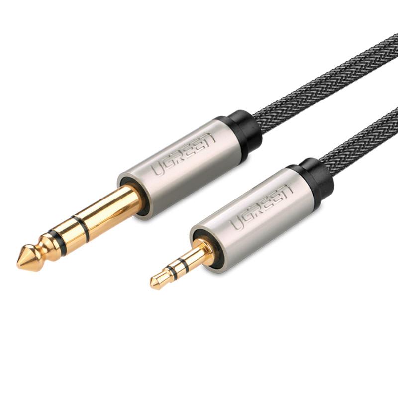 Dây âm thanh 3.5mm đực ra 6.5mm mạ vàng 24k cao cấp dài 3M UGREEN AV127 40805- Hãng phân phối chính thức