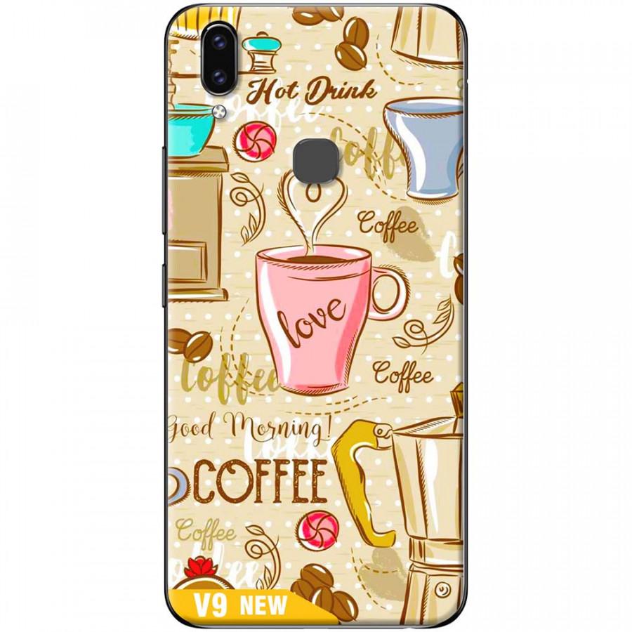 Ốp lưng dành cho Vivo V9 mẫu Love coffee
