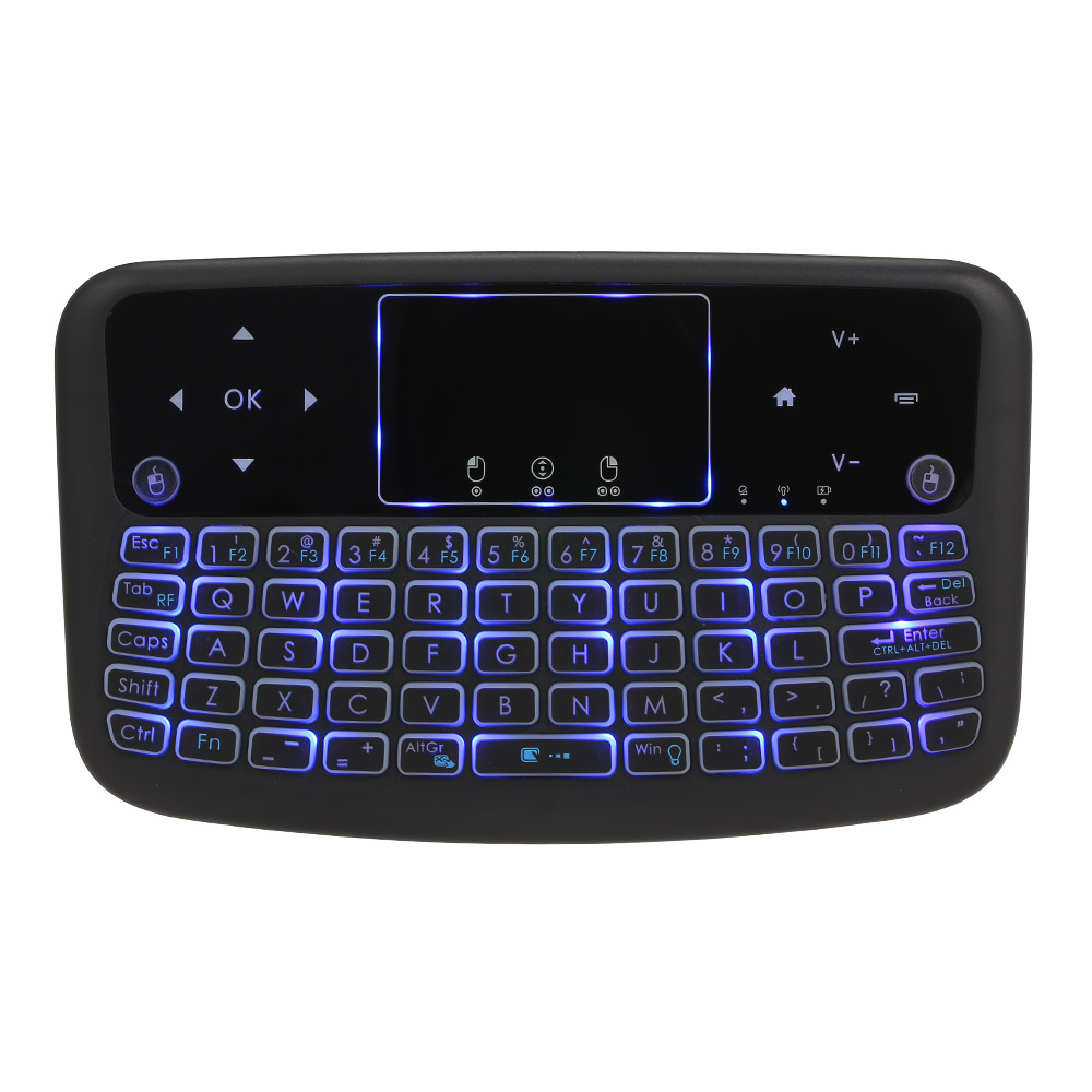 Bàn Phím Cảm Ứng Không Dây A36 2.4G Cho  Android TV Box Smart TV PC PS3 - Đen
