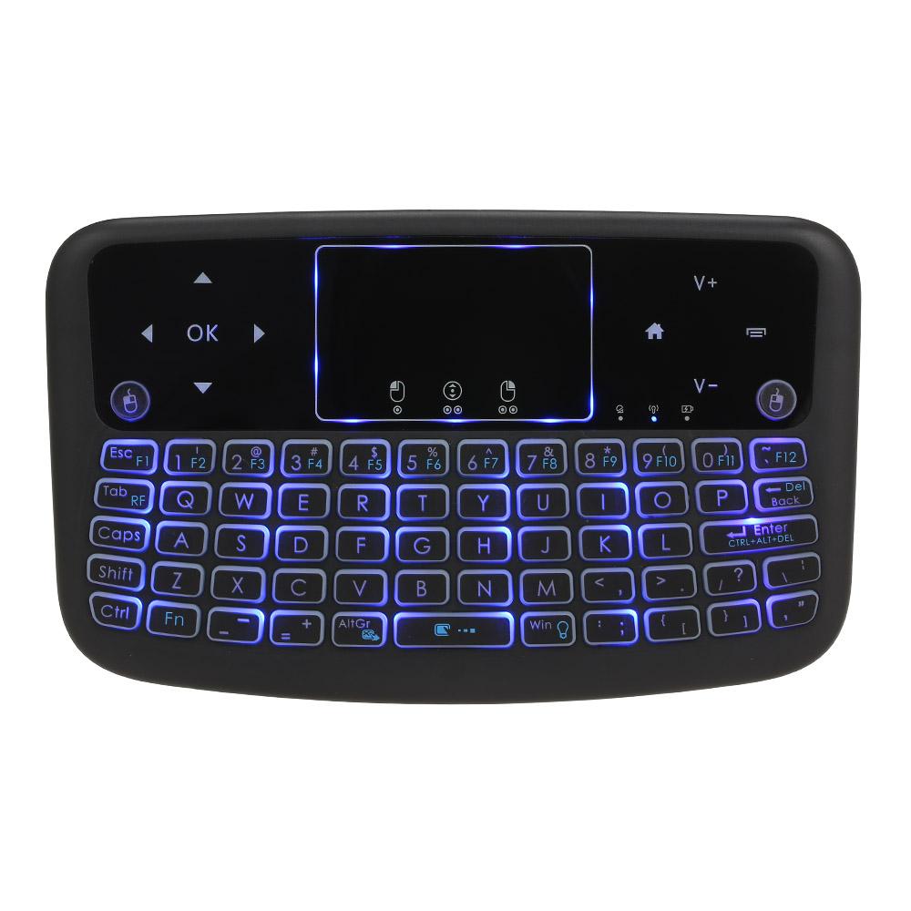 Bàn Phím Cảm Ứng Mini Không Dây A36 2.4GHz 4  Cho Android TV Box Smart TV PC - Đen
