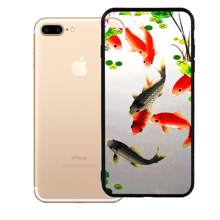 Ốp lưng viền TPU cao cấp dành cho iPhone 7 Plus - Fishes 03