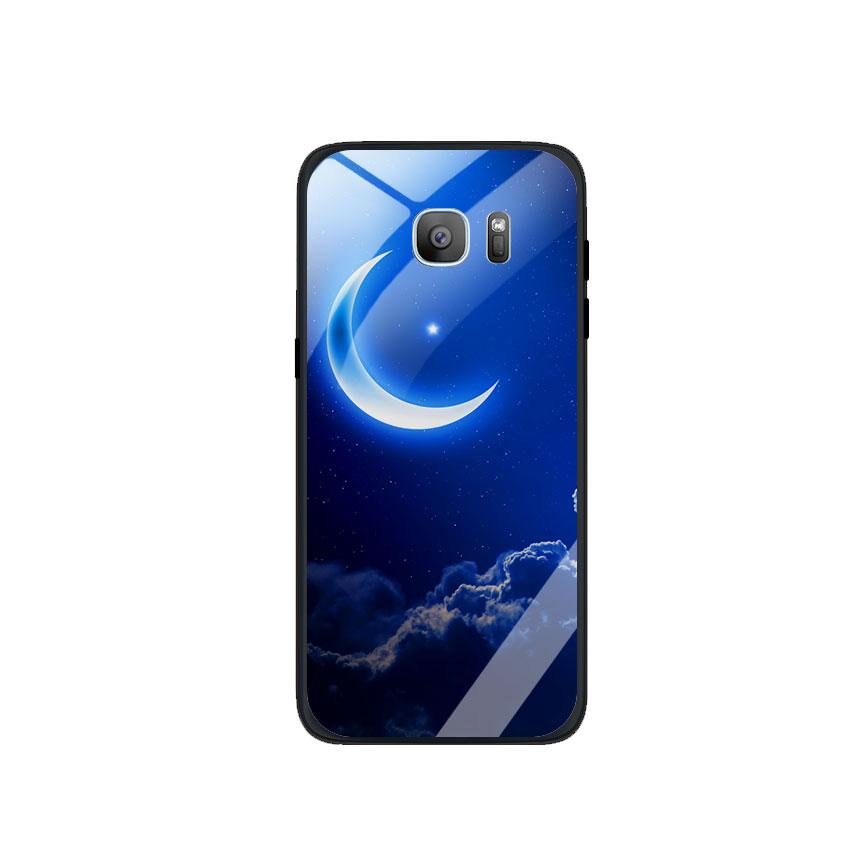 Ốp Lưng Kính Cường Lực cho điện thoại Samsung Galaxy S7 Edge - 0220 MOON01