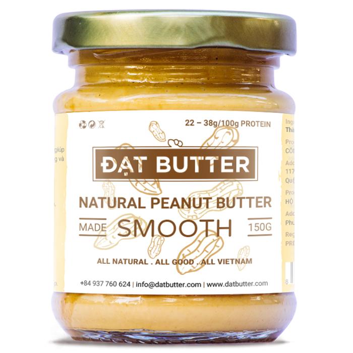 Bơ Đậu Phộng Tự Nhiên Xay Mịn Đạt Butter (150g)