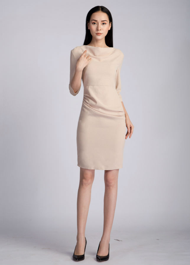 Váy Nữ Cổ Đổ AY1005B - Be - 1017721 , 9225715495762 , 62_5874675 , 799000 , Vay-Nu-Co-Do-AY1005B-Be-62_5874675 , tiki.vn , Váy Nữ Cổ Đổ AY1005B - Be