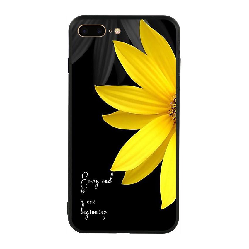 Ốp lưng nhựa cứng viền dẻo TPU cho điện thoại Iphone 7 Plus/8 Plus - Daisy 01