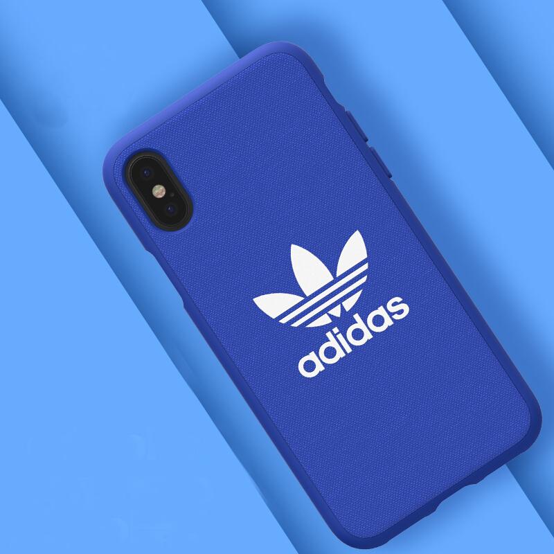 Ốp Lưng Silicone Dành Cho Iphone X Adidas - Xanh Dương
