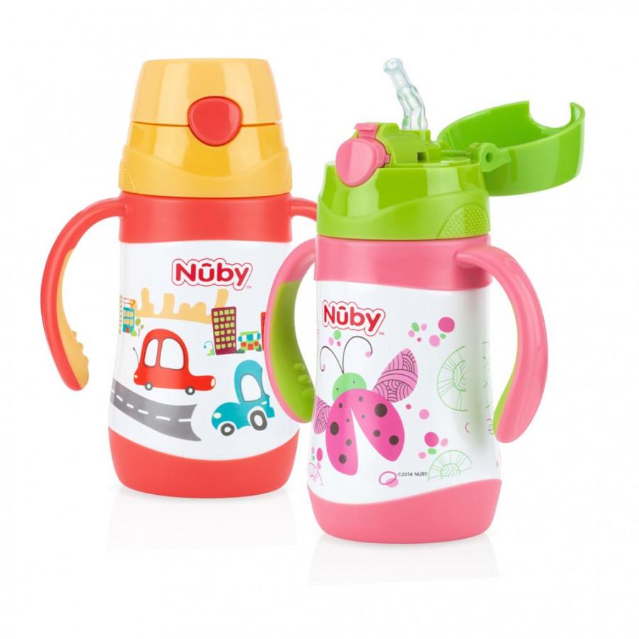 Bình uống nước ống hút bằng inox giữ nhiệt Nuby 280ml - 1836114 , 5190238628543 , 62_13758463 , 515000 , Binh-uong-nuoc-ong-hut-bang-inox-giu-nhiet-Nuby-280ml-62_13758463 , tiki.vn , Bình uống nước ống hút bằng inox giữ nhiệt Nuby 280ml