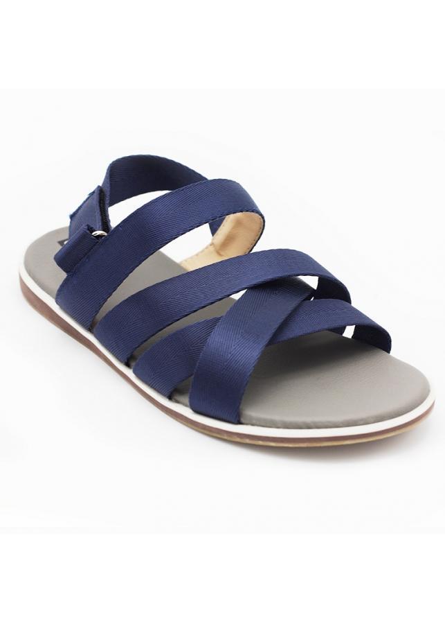 Giày sandal 3 quai CHÉO nam thời trang Everest A449 (xanh).