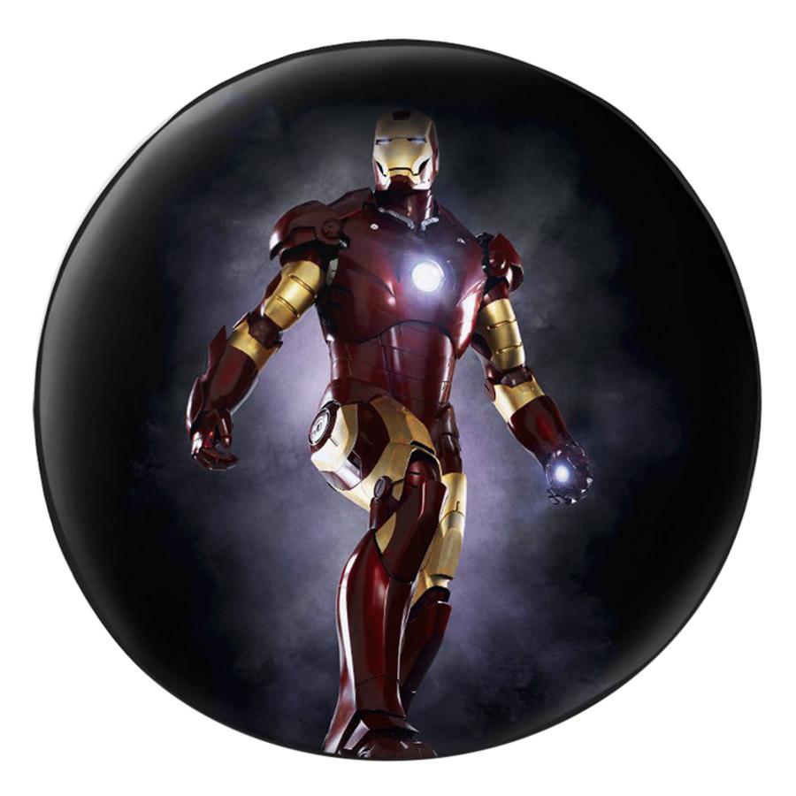 Gối Ôm Tròn In Hình Iron Man 3 - GOFF284