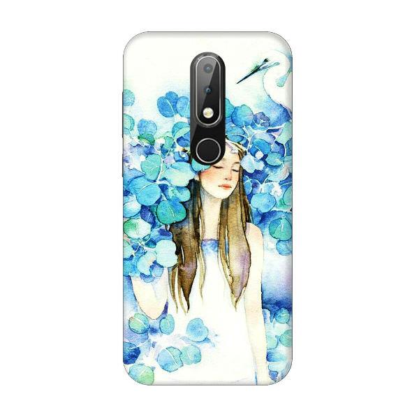 Ốp Lưng Dành Cho Điện Thoại Nokia X6 - Cô Gái Lá Xanh