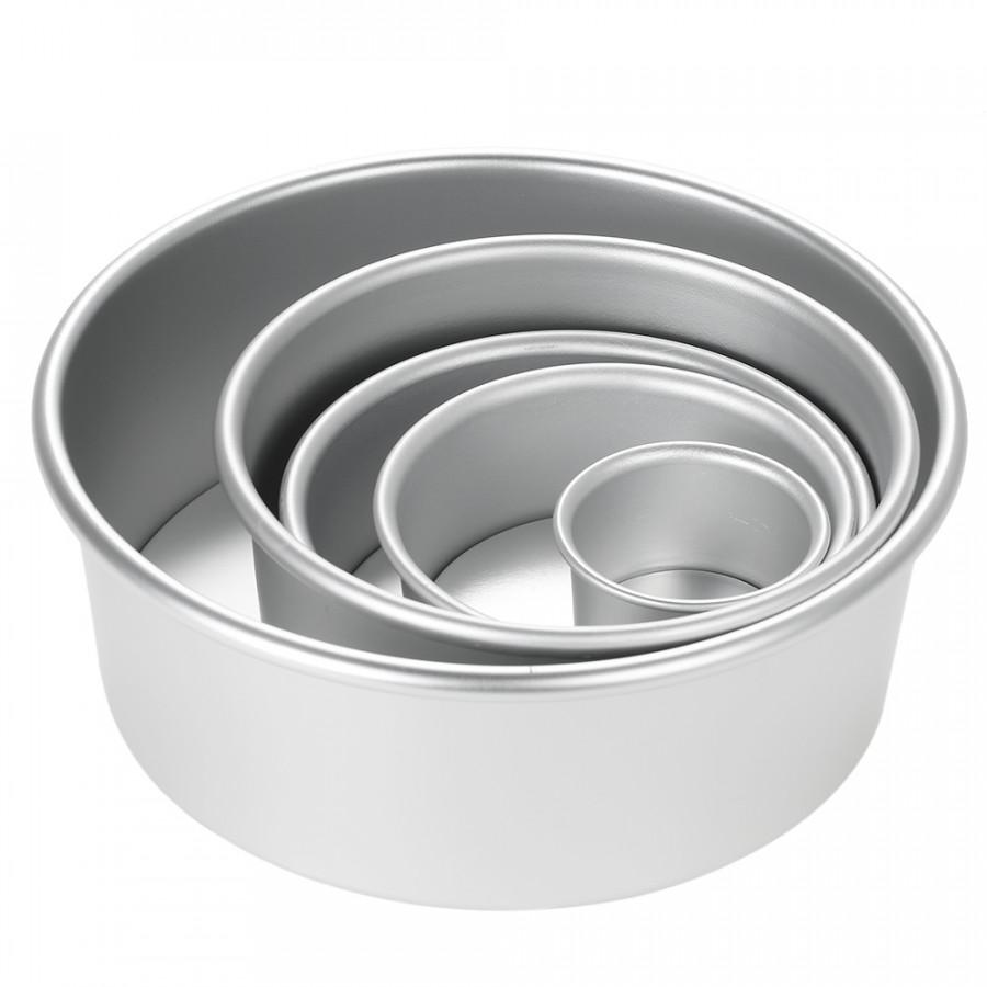 5pcs/set Aluminum Alloy Round Cake Mould Chiffon Cake Baking Pan Pudding Cheesecake Mold Set with Removable Bottom - 1882321 , 8093996859266 , 62_14368959 , 322000 , 5pcs-set-Aluminum-Alloy-Round-Cake-Mould-Chiffon-Cake-Baking-Pan-Pudding-Cheesecake-Mold-Set-with-Removable-Bottom-62_14368959 , tiki.vn , 5pcs/set Aluminum Alloy Round Cake Mould Chiffon Cake Baking P