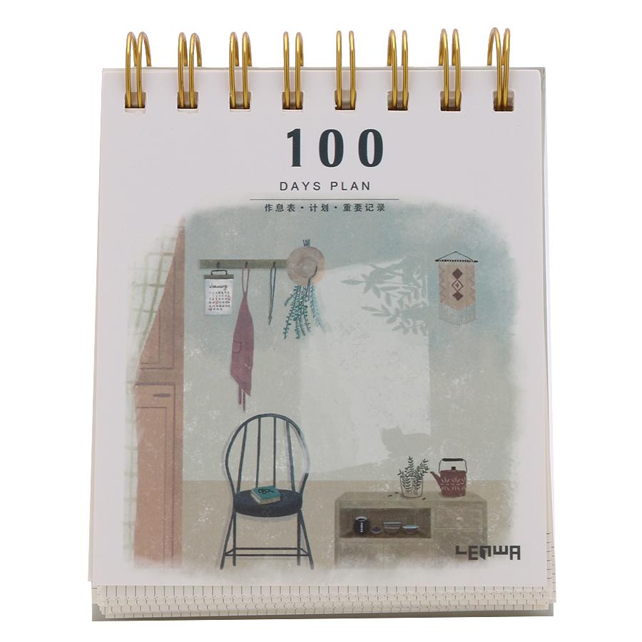 Sổ Kế Hoạch Lò Xo 100 Ngày - 100 Days Daily Planner Notebooks (Mẫu 1) - 1576165 , 7553072117105 , 62_10318088 , 81000 , So-Ke-Hoach-Lo-Xo-100-Ngay-100-Days-Daily-Planner-Notebooks-Mau-1-62_10318088 , tiki.vn , Sổ Kế Hoạch Lò Xo 100 Ngày - 100 Days Daily Planner Notebooks (Mẫu 1)